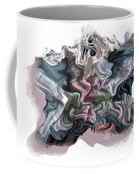 Abstract Coffee Mug featuring the digital art Snow Capped Cloth by Ron Bissett