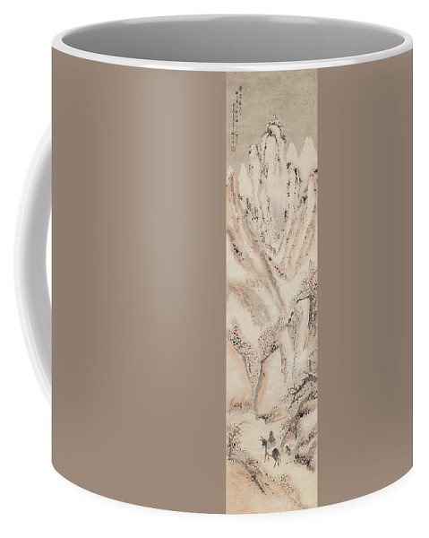 Snow Mountain Coffee Mug featuring the painting Snow Mountain Ink Painting by Gao Qipei