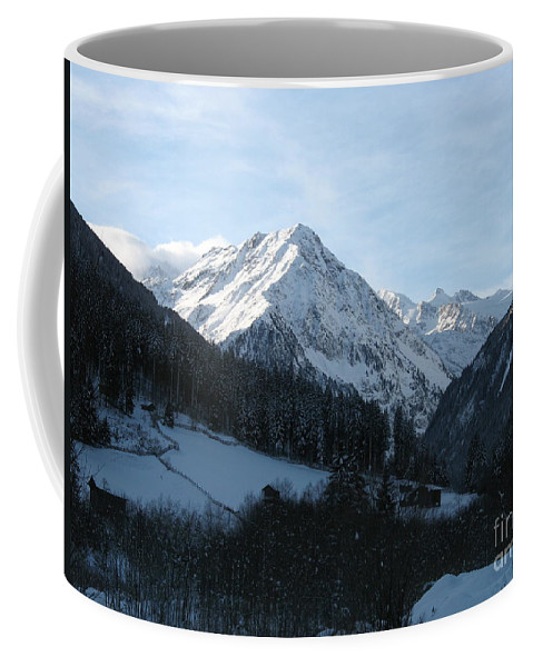 Snow Coffee Mug featuring the photograph Snow On The Mountains by Christiane Schulze Art And Photography