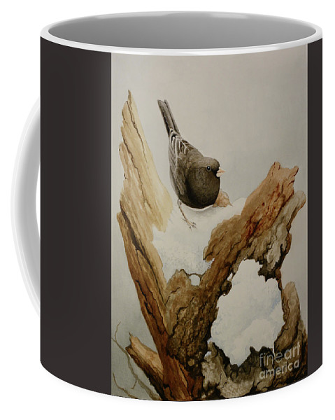 Junco Coffee Mug featuring the painting Dark-eyed Junco by Charles Owens