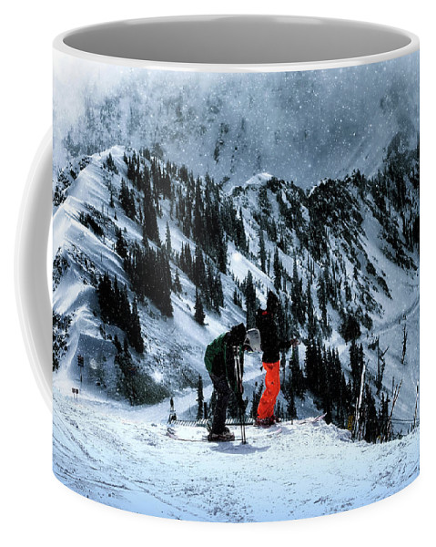Skiing Coffee Mug featuring the photograph Snowbird by Jim Hill