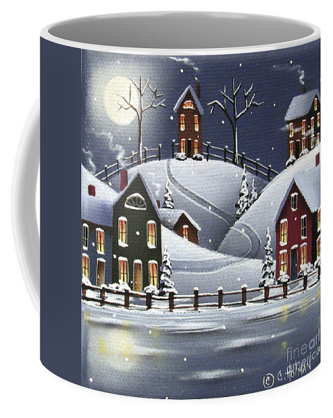 Art Coffee Mug featuring the painting Snowflake Cove by Catherine Holman