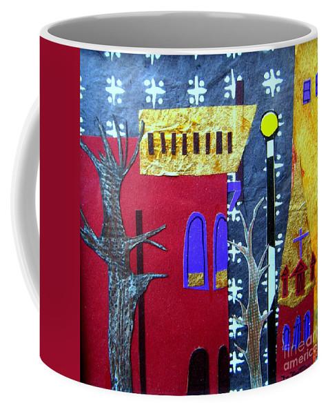 City Coffee Mug featuring the mixed media Snowstorm Backbay by Debra Bretton Robinson