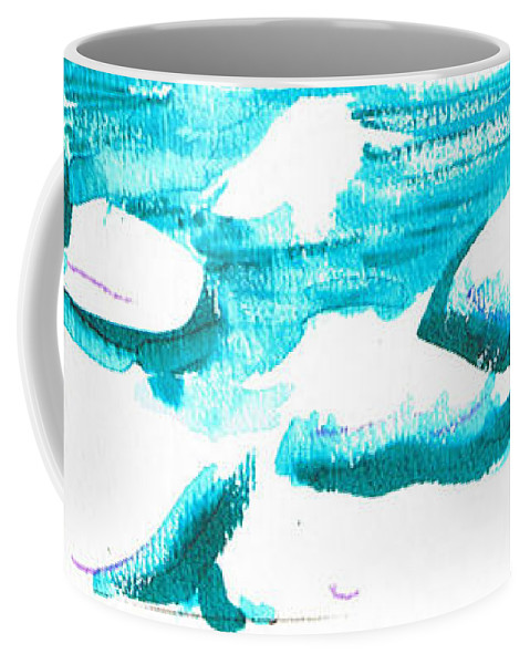Chilling Coffee Mug featuring the mixed media Snowy Creek Banks by Seth Weaver