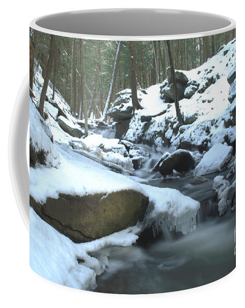 Snowy Coffee Mug featuring the photograph Snowy Falls by Along The Trail