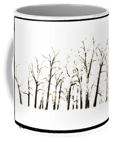 Snow Coffee Mug featuring the photograph Snowy Line Up by Jerry McElroy