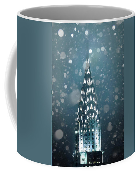 New York City Coffee Mug featuring the photograph Snowy Spires by Az Jackson