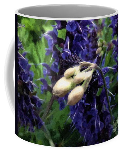 Blue Coffee Mug featuring the painting So Close by RC DeWinter