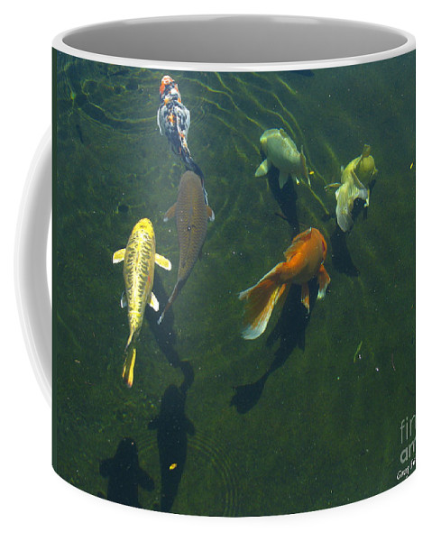 Patzer Coffee Mug featuring the photograph So Koi by Greg Patzer