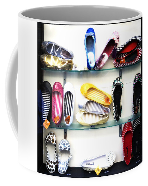 Shoes Coffee Mug featuring the photograph So Many Shoes... by Marilyn Hunt