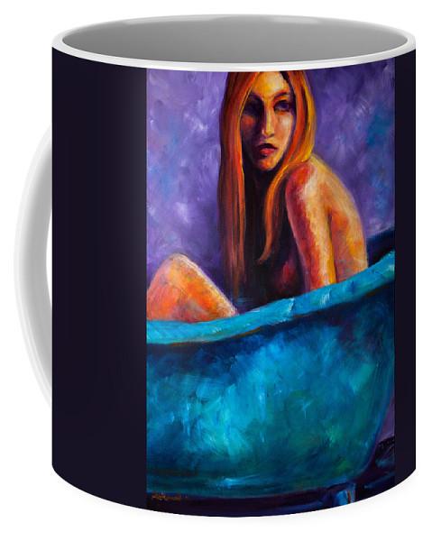 Nude Coffee Mug featuring the painting Soak by Jason Reinhardt