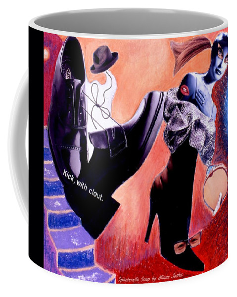 Shoes Coffee Mug featuring the drawing Soap Scene # 1 Chow Baby by Minaz Jantz