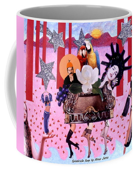 Collage Coffee Mug featuring the drawing Soap Scene # 28 You Have Seen That Movie Too by Minaz Jantz