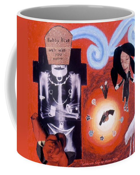 Grave Site Coffee Mug featuring the drawing Soap Scene #10 The Grave Site by Minaz Jantz