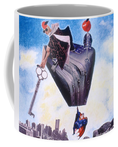 Twin Towers Coffee Mug featuring the drawing Soap Scene #11 Seek the Love Within by Minaz Jantz