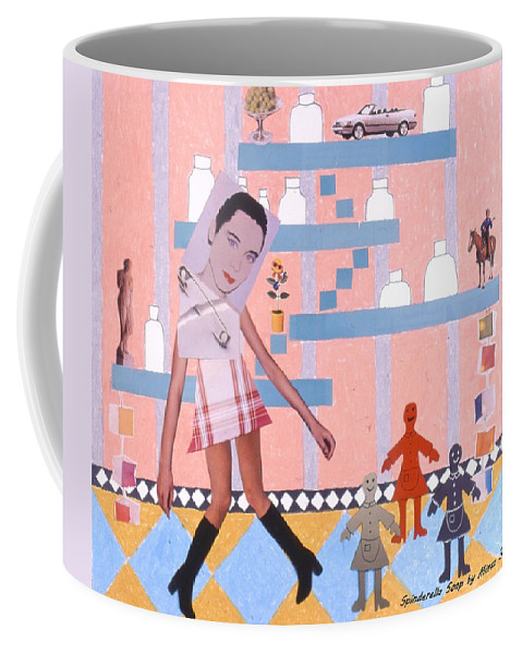 Cowboy Coffee Mug featuring the drawing Soap Scene #16 Miracle Maids by Minaz Jantz