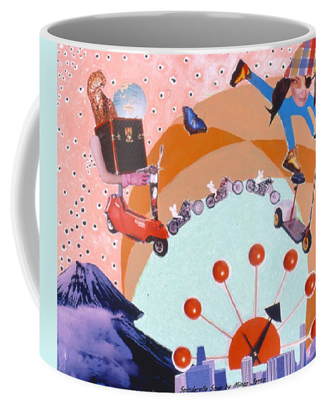 Motorcycles Coffee Mug featuring the drawing Soap Scene #17 Man-if-fest State by Minaz Jantz