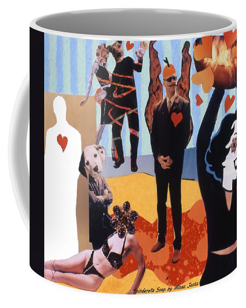 Hearts Coffee Mug featuring the drawing Soap Scene #18 Burn in Heaven at the Club Relish by Minaz Jantz