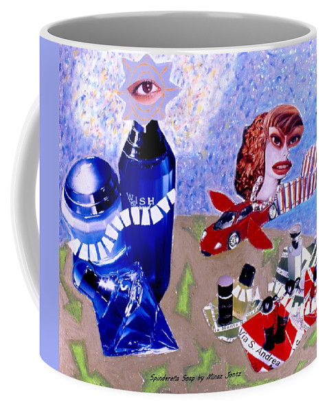 City Coffee Mug featuring the drawing Soap Scene #2 City of Dreams by Minaz Jantz