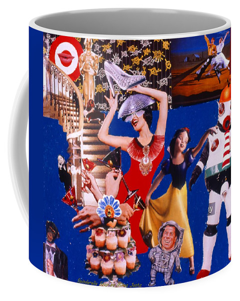 Surreal Coffee Mug featuring the drawing Soap Scene #23 Oscar's Kiss Of Success by Minaz Jantz