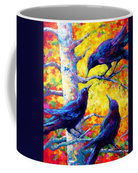 Paintings Coffee Mug featuring the painting Social Cub I by Marion Rose