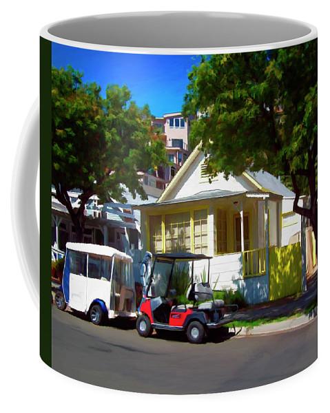 Catalina Coffee Mug featuring the digital art Social Visit by Snake Jagger