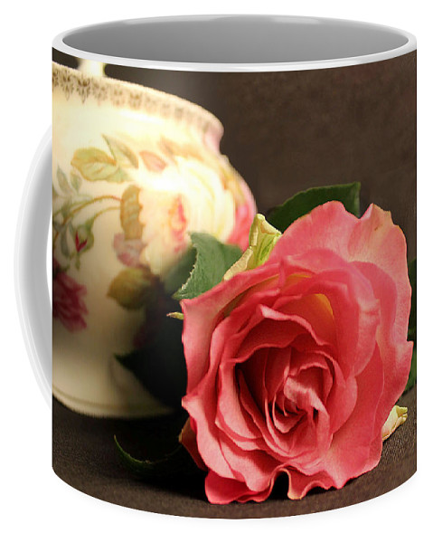Rose Coffee Mug featuring the photograph Soft Antique Rose by Brenda Spittle