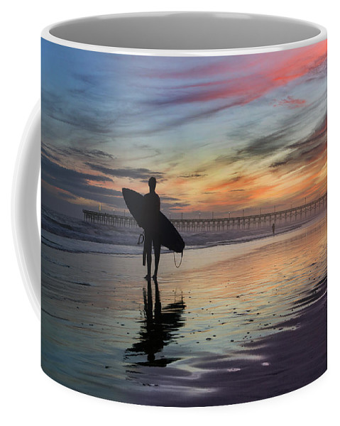 Surf Coffee Mug featuring the photograph Surfing The Shadows Of Light by Betsy Knapp