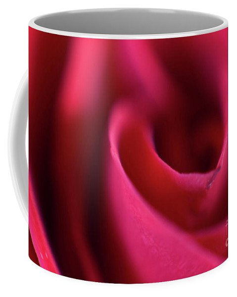 Abstract Coffee Mug featuring the photograph Soft Petals by Alan Look
