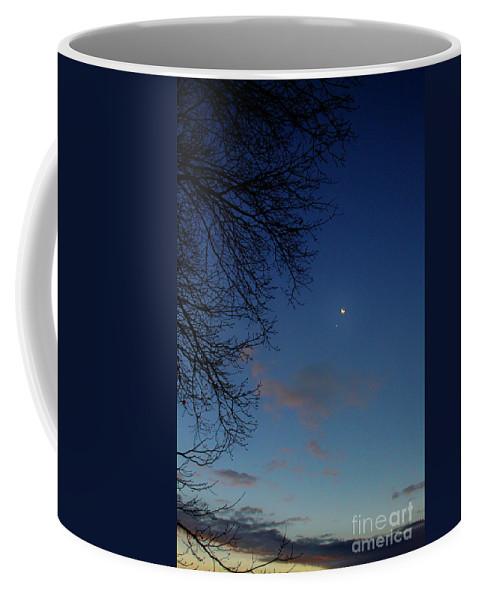 Sky Coffee Mug featuring the digital art Soft Sunrise by Dan Stone