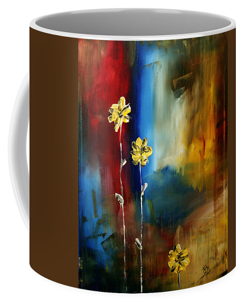 Wall Coffee Mug featuring the painting Soft Touch by Megan Duncanson