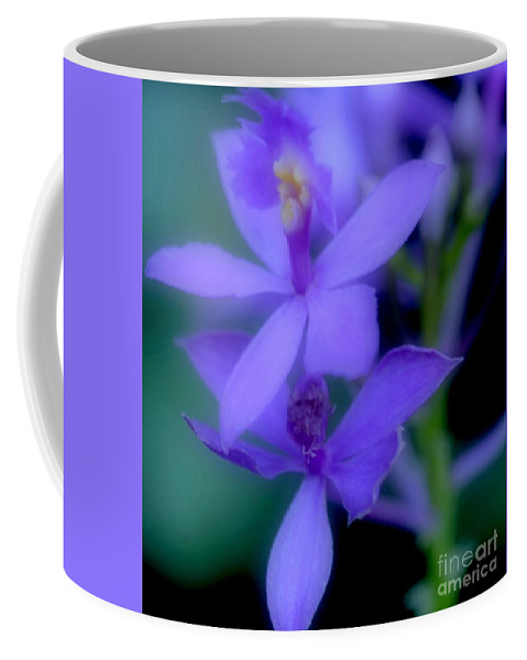 Orchid Coffee Mug featuring the photograph Soft Violet by Kathleen Struckle