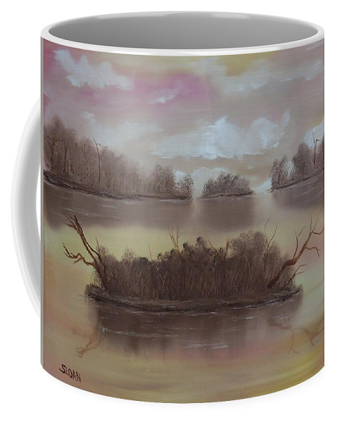 Landscape Coffee Mug featuring the painting Softly Spoken by Ervin Sloan