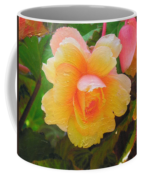 Coffee Mug featuring the mixed media Softness by Diane Greco-Lesser