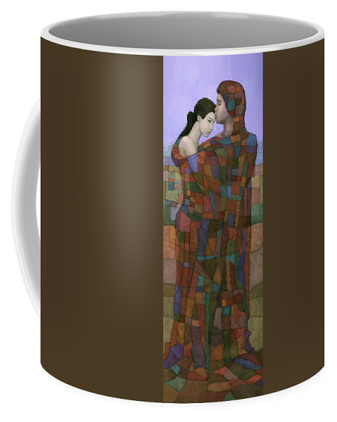 Figurative Coffee Mug featuring the painting Solace by Steve Mitchell