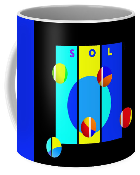 Primary Colors Coffee Mug featuring the painting Solar Activity by Charles Stuart