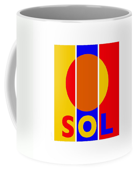 Primary Colors Coffee Mug featuring the painting Solar by Charles Stuart
