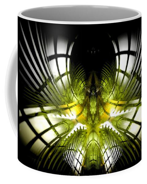 Fractal Coffee Mug featuring the digital art Solar Greenhouse by Amorina Ashton