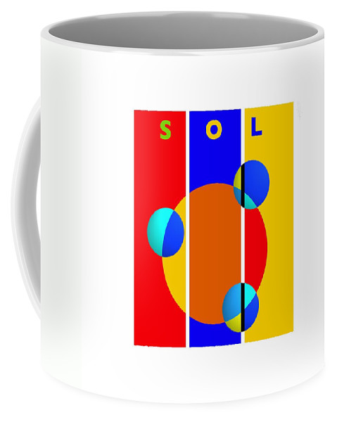 Primary Colors Coffee Mug featuring the painting Solar Style by Charles Stuart