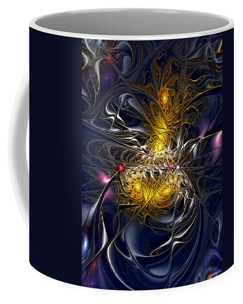 Abstract Coffee Mug featuring the digital art Solar Winds by Casey Kotas