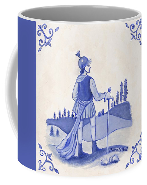 Soldier Coffee Mug featuring the painting Soldier by Anna Mell
