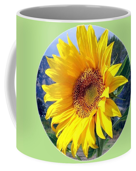 Sunflower Coffee Mug featuring the photograph Solid Sunshine by Will Borden