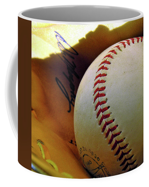 Baseball Coffee Mug featuring the photograph Solitary Ball 2 by Adam Vance
