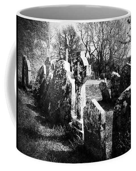 Ireland Coffee Mug featuring the photograph Solitary Cross At Fuerty Cemetery Roscommon Irenand by Teresa Mucha
