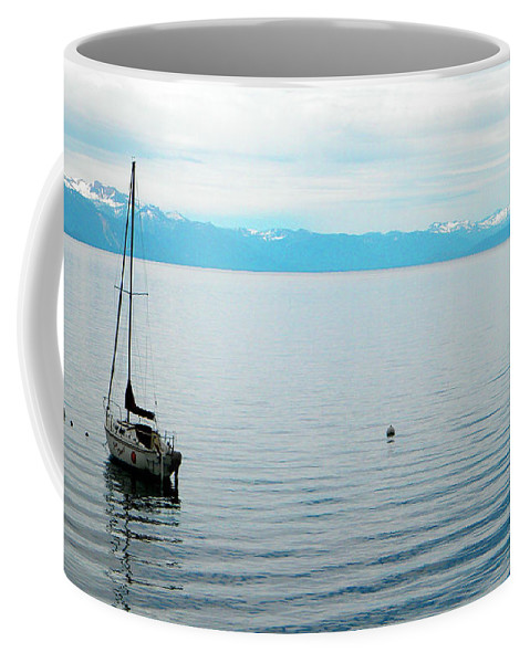 Frank Wilson Coffee Mug featuring the photograph Solitary Sailboat by Frank Wilson