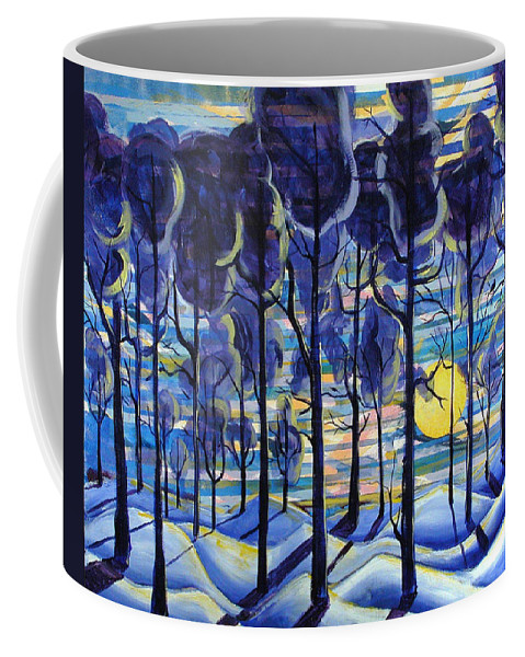 Landscape Coffee Mug featuring the painting Solitude by Rollin Kocsis