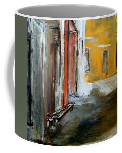 Easter Coffee Mug featuring the painting Solitude by Rome Matikonyte