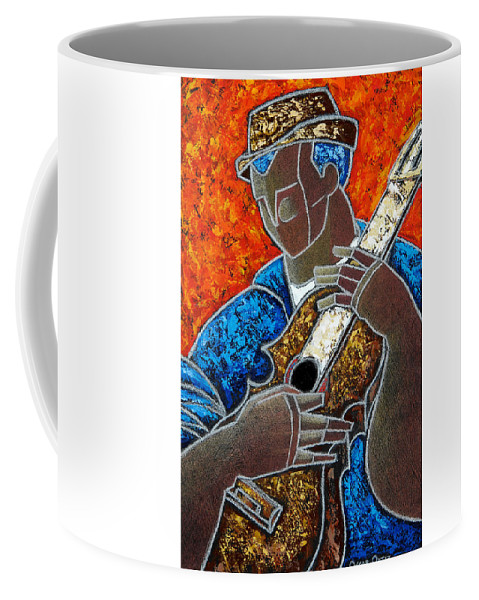 Puerto Rico Coffee Mug featuring the painting Solo De Cuatro by Oscar Ortiz