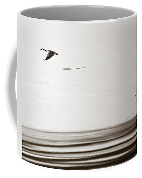 Goose Coffee Mug featuring the photograph Solo Flight by Marilyn Hunt