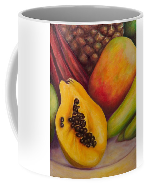 Tropical Fruit Still Life: Mangoes Coffee Mug featuring the painting Solo by Shannon Grissom